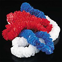 RED/WHITE/BLUE POLY LEIS